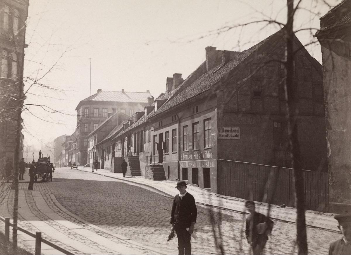 Nedre Vollgate fra Wessels plass, 1885, Oslo Museum, OB.F03176.jpg