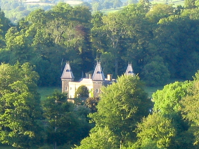 Newton House as seen from atop Dinefwr Castle keep
