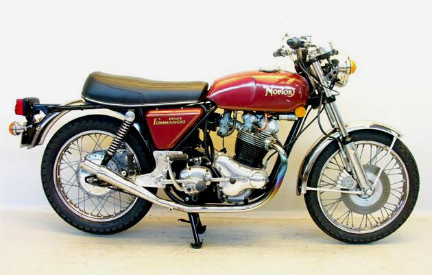 Norton  mando on benelli 250 four