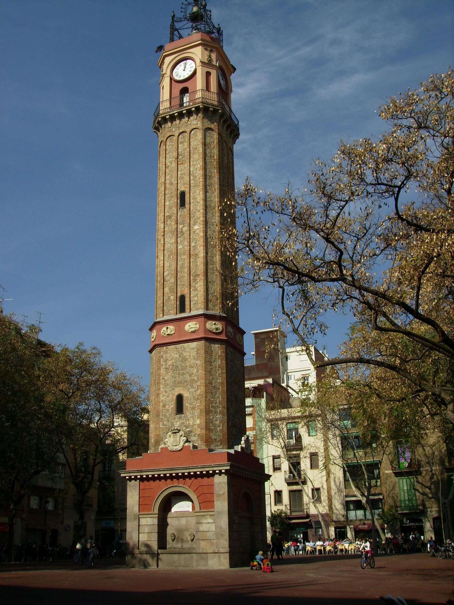 Campanile Piazza Vila de Gràcia. souce: Wikipedia - Aut: puigalder
