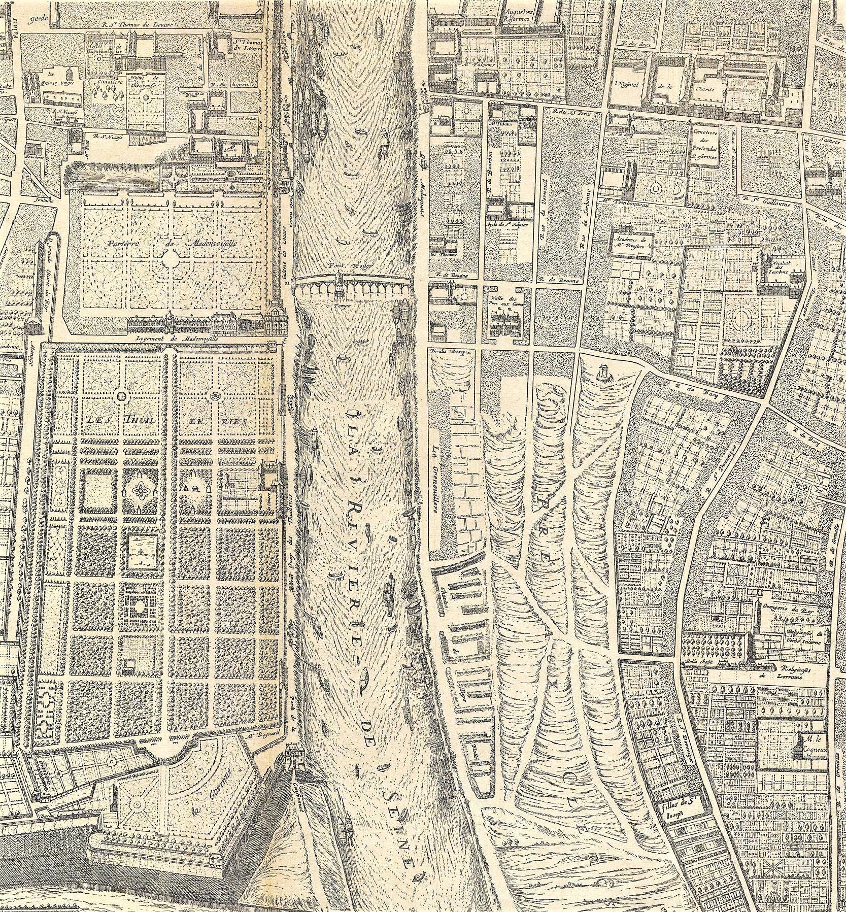 File Plan De Paris Extrait Du Plan Gomboust 1652 Jardins Des