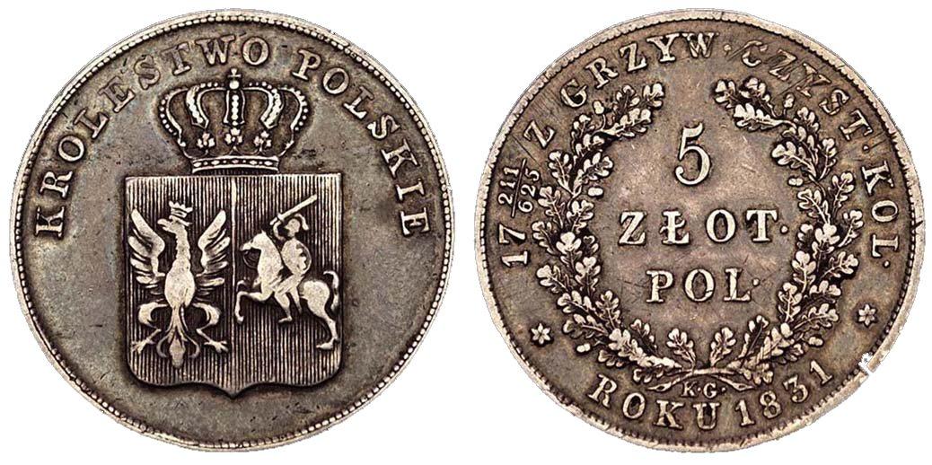 10 5 злотых 1000 рублей 1918