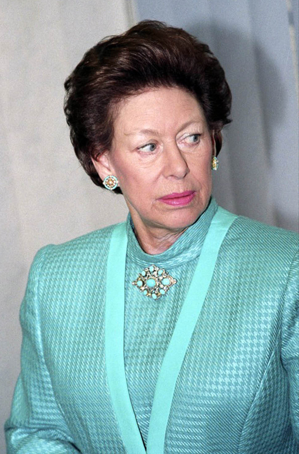 HRH Margaret wonders where that waiter is with her drink.