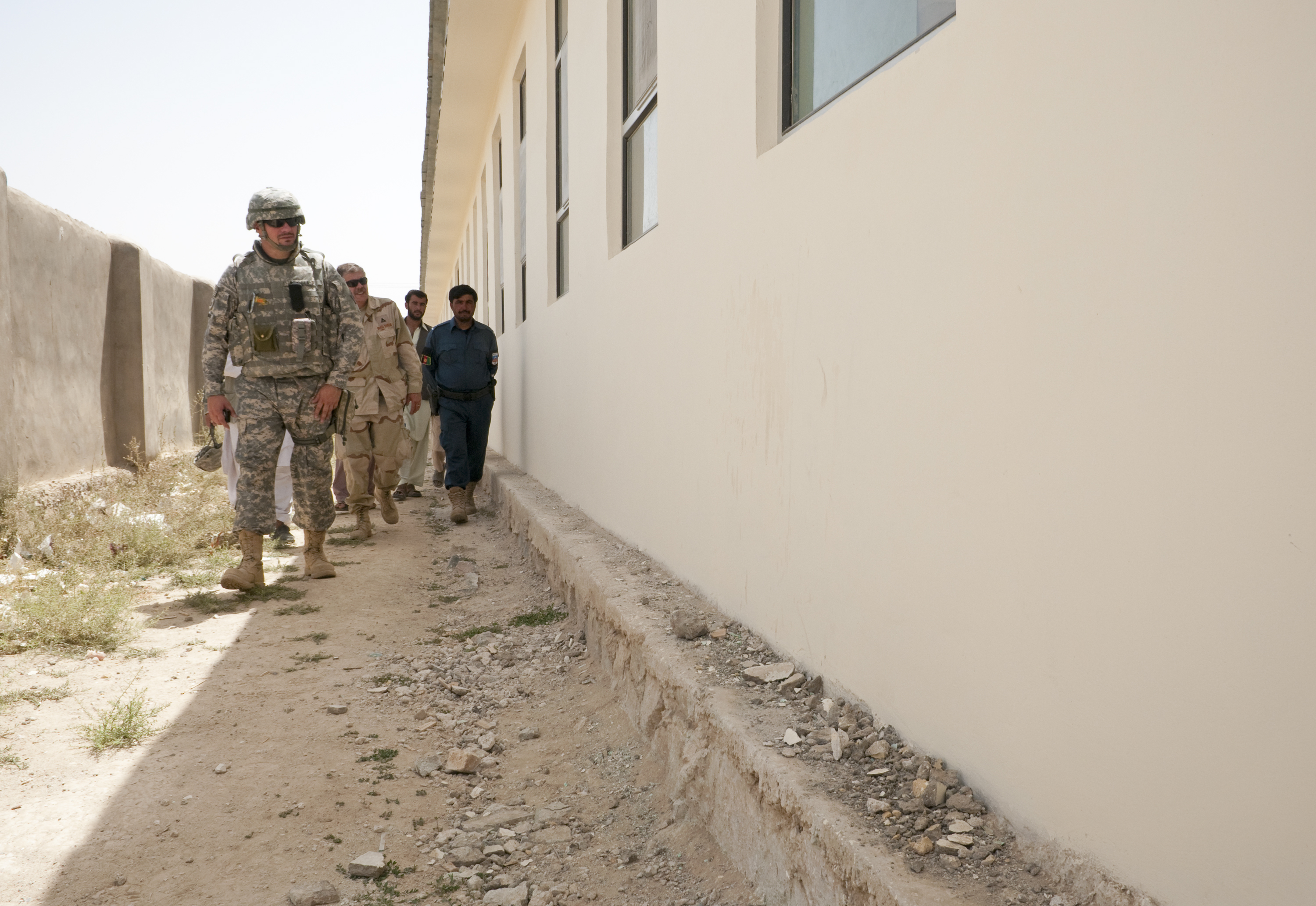 Zabul province, July 9, 2010. The school recently received a $135,000 renovation, which included foundation work, installation of new windows and doors