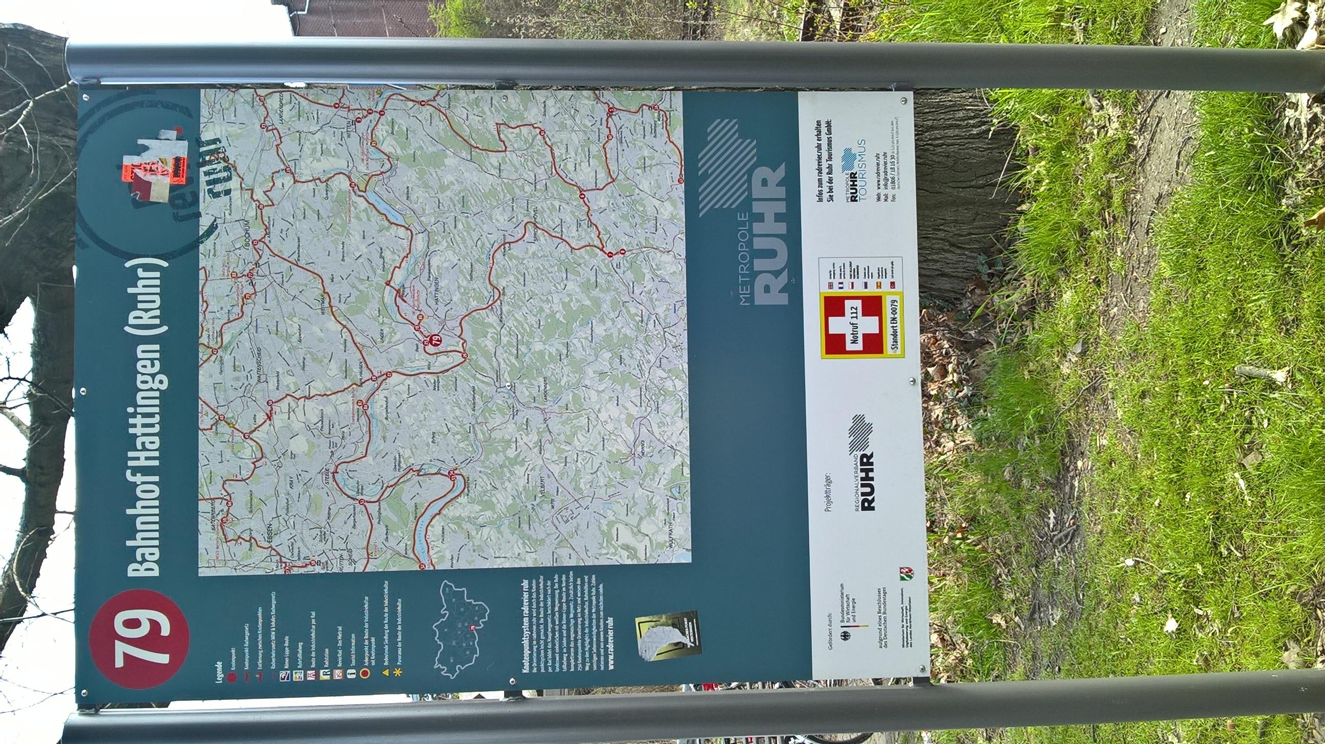 File Radrevier Ruhr Knotenpunkt 79 Bahnhof Hattingen Ruhr Karte