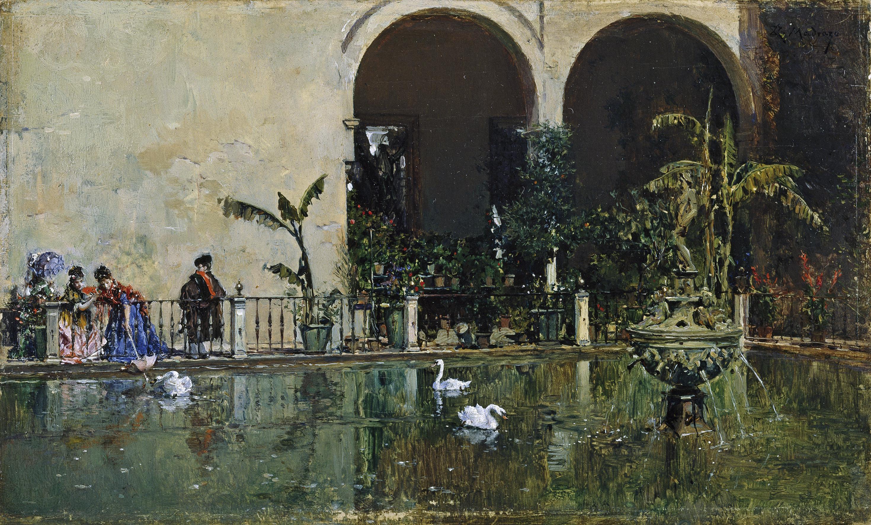 File raimundo madrazo estanque en los jardines del real - Estanque de jardin ...