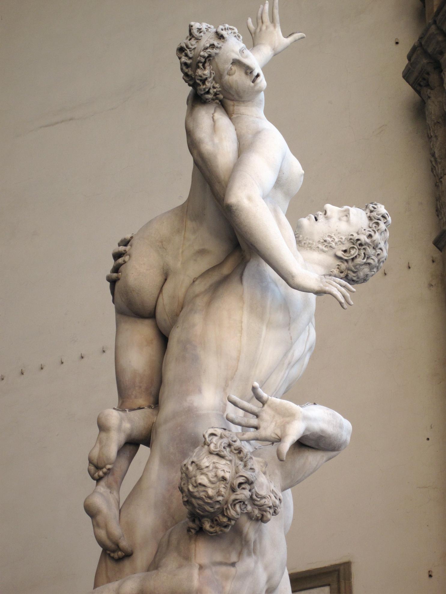 Giambologna, Ratto delle Sabine, 1574-1580, Loggia dei Lanzi, Piazza della Signoria, Firenze