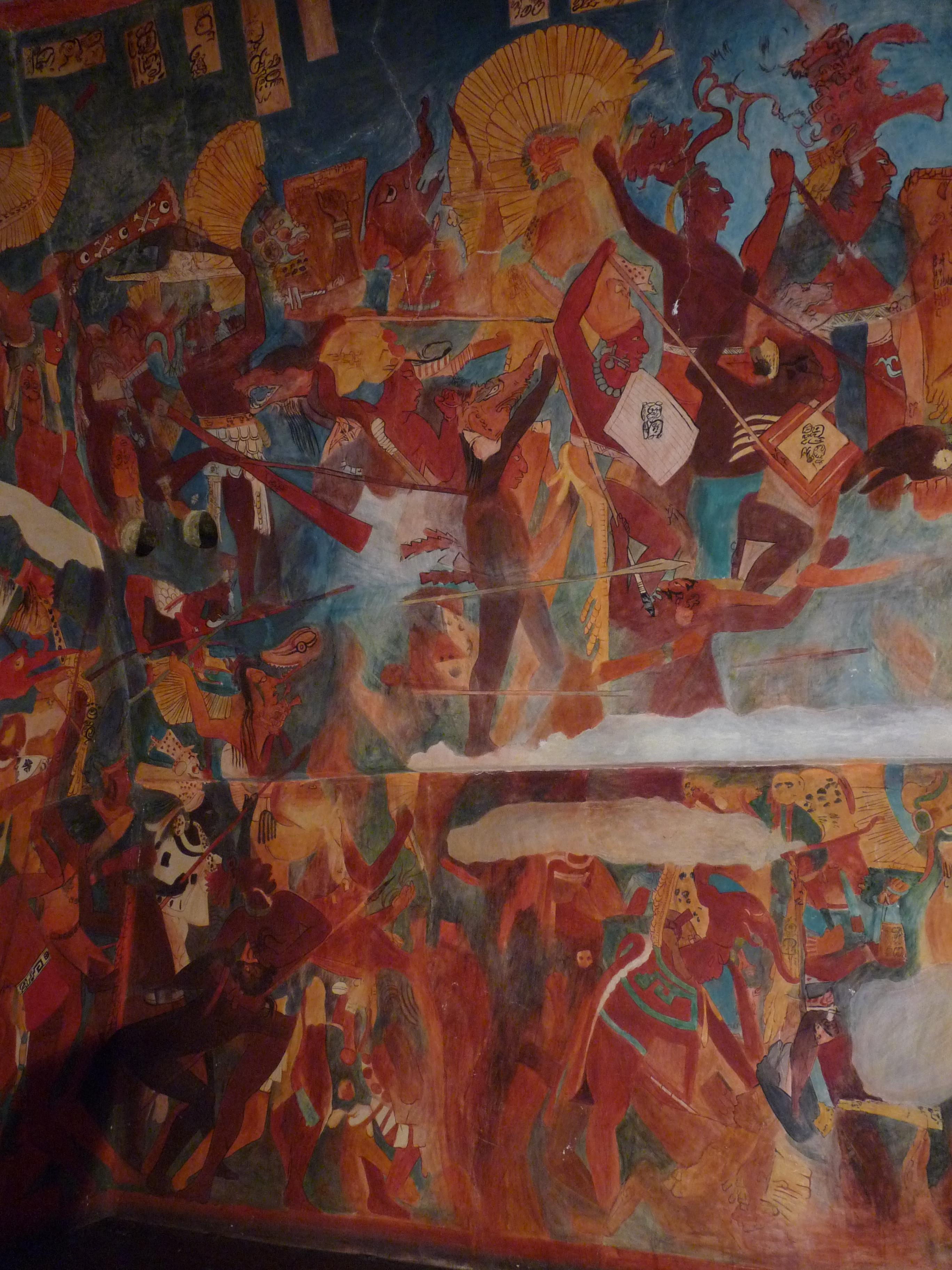 File Reproduction Of Bonampak Murals Left 2 Jpg Wikimedia Commons