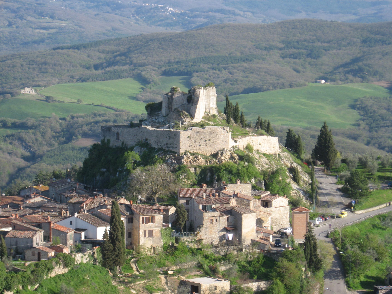 La rocca Aldobrandesca di Castiglione d'Orcia
