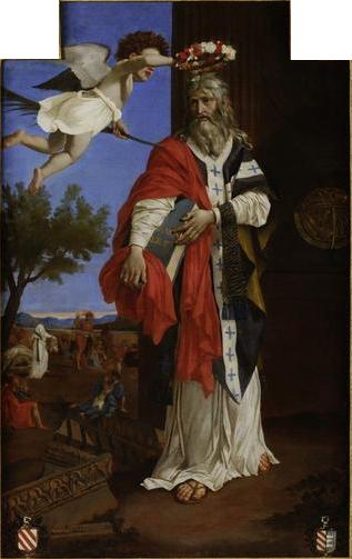 Saint Denis l'Aréopagite couronné par un ange - Poussin - MBA Rouen.jpg