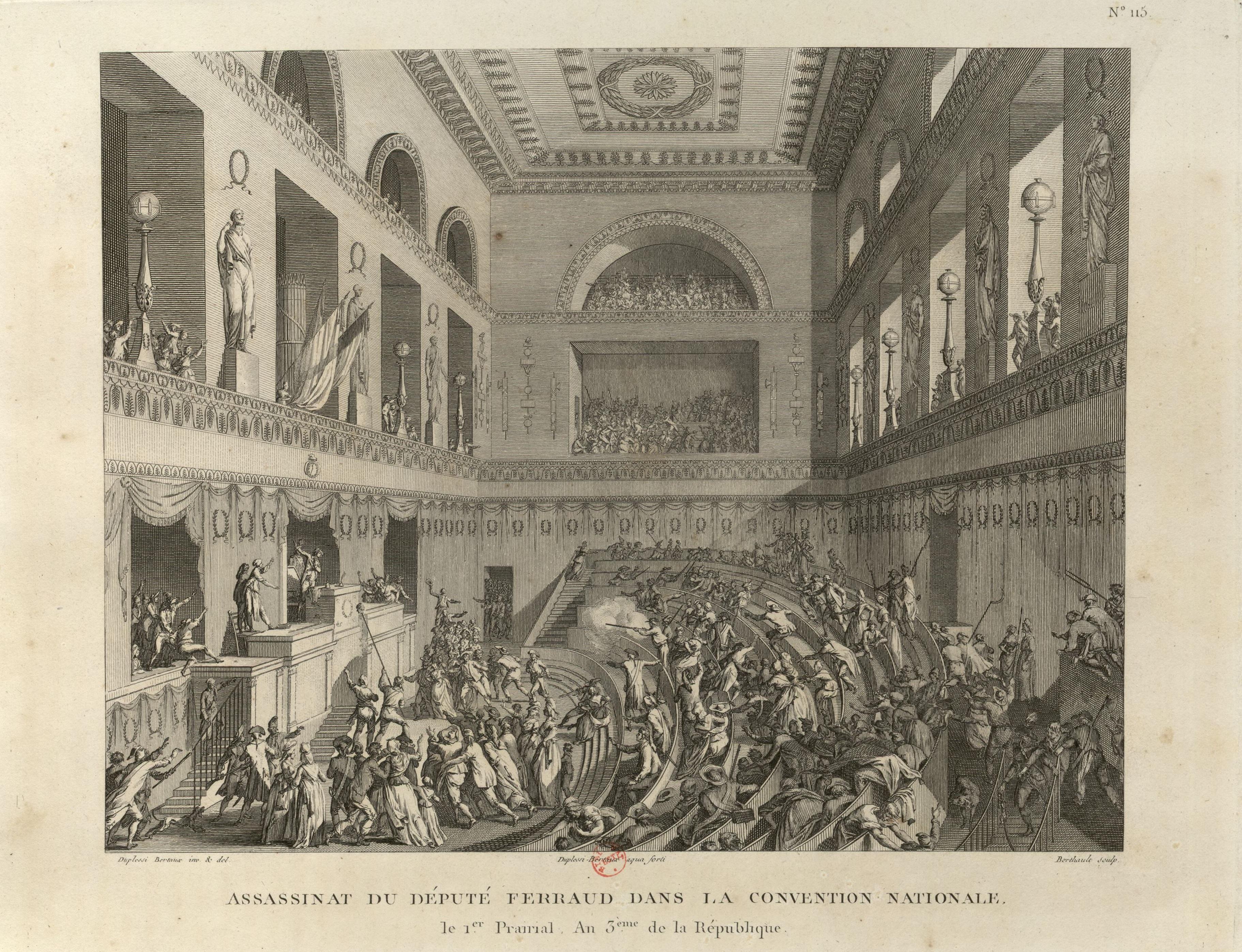 Artwork representing the Assassination of Jean Feraud in 1795