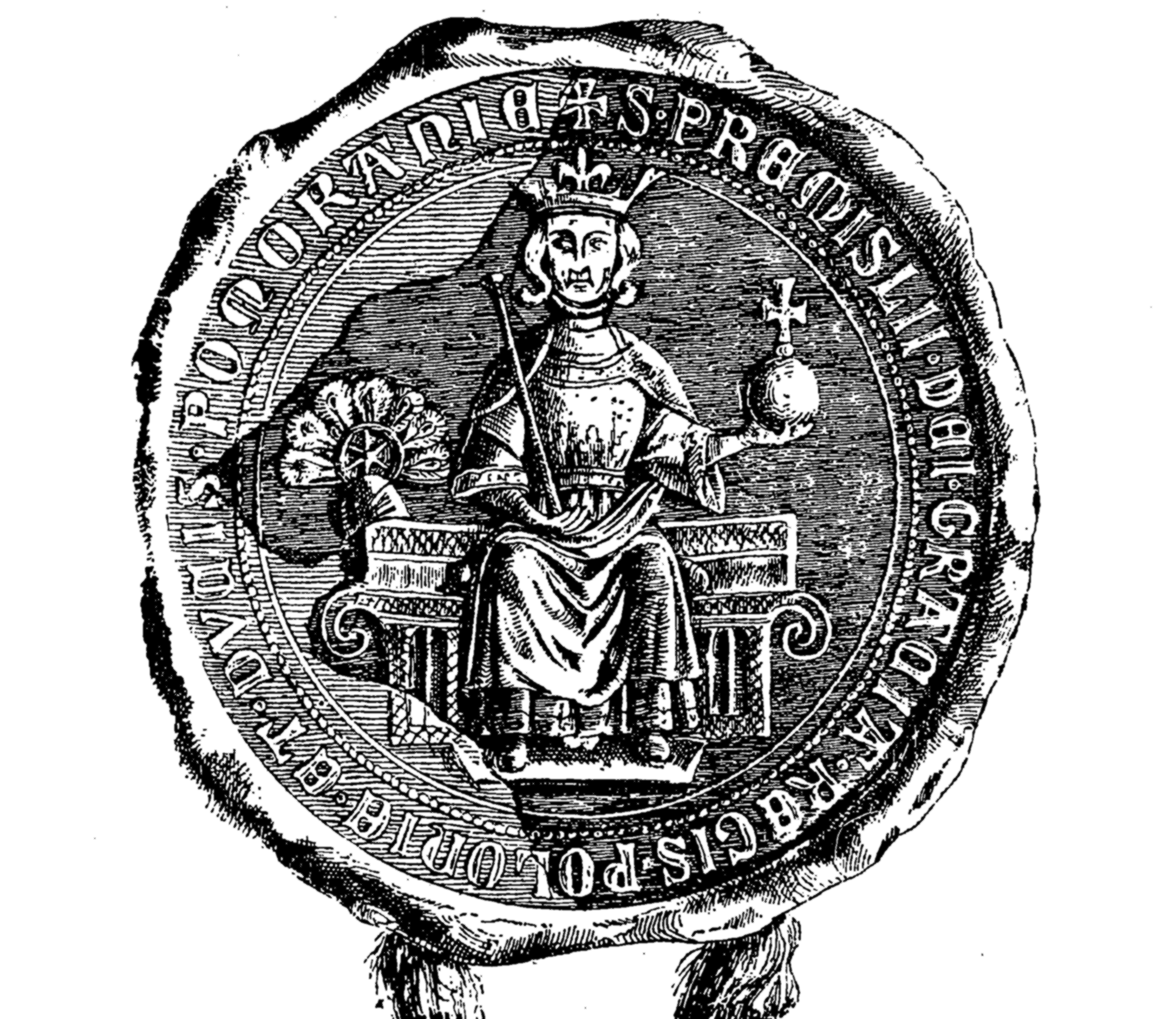 File:Seal of Przemysł II King of Poland from 1296.PNG