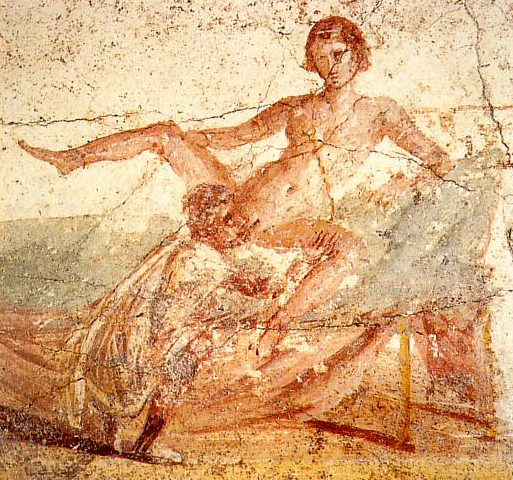 Datoteka:Sexual scene on pompeian mural.jpg