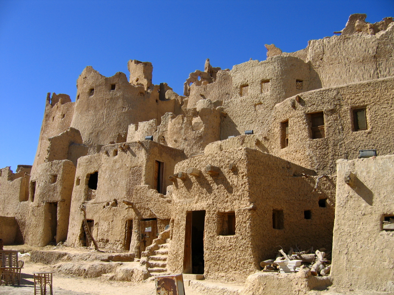 Homes In The Egyptian Desert Town Of Siwa Oasis Mud Brick Houses