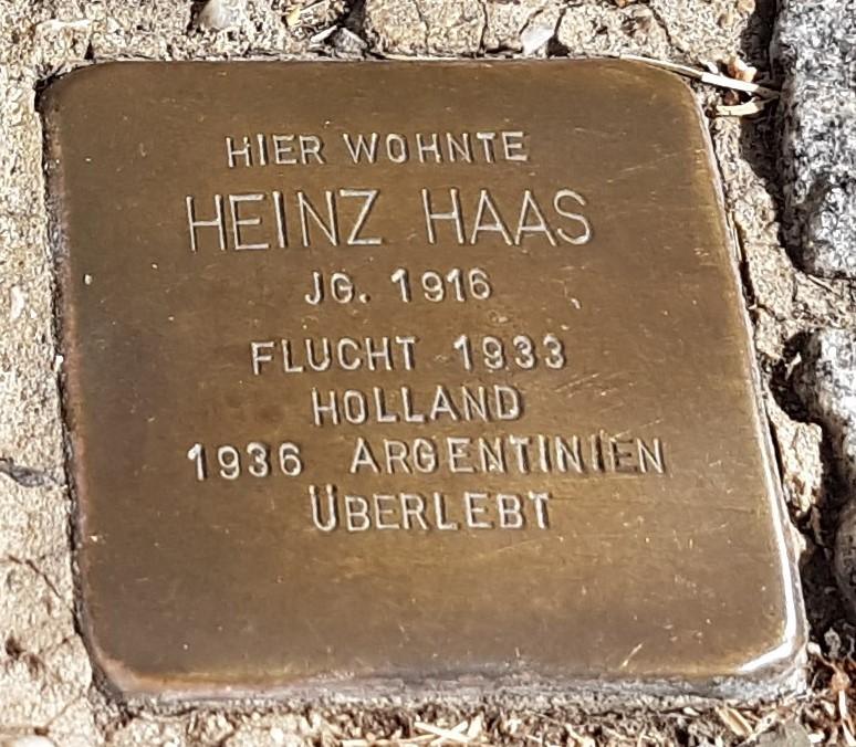 Stolperstein von Heinz Haas