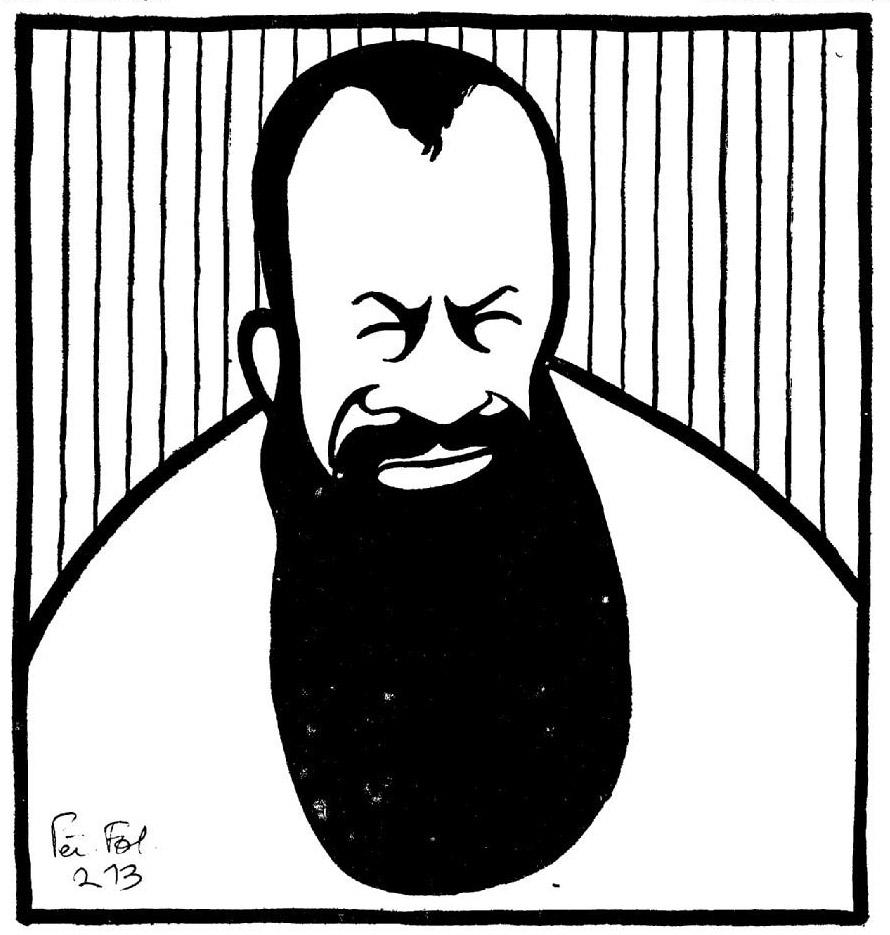 Caricature publiée dans Les Hommes du jour (1911).