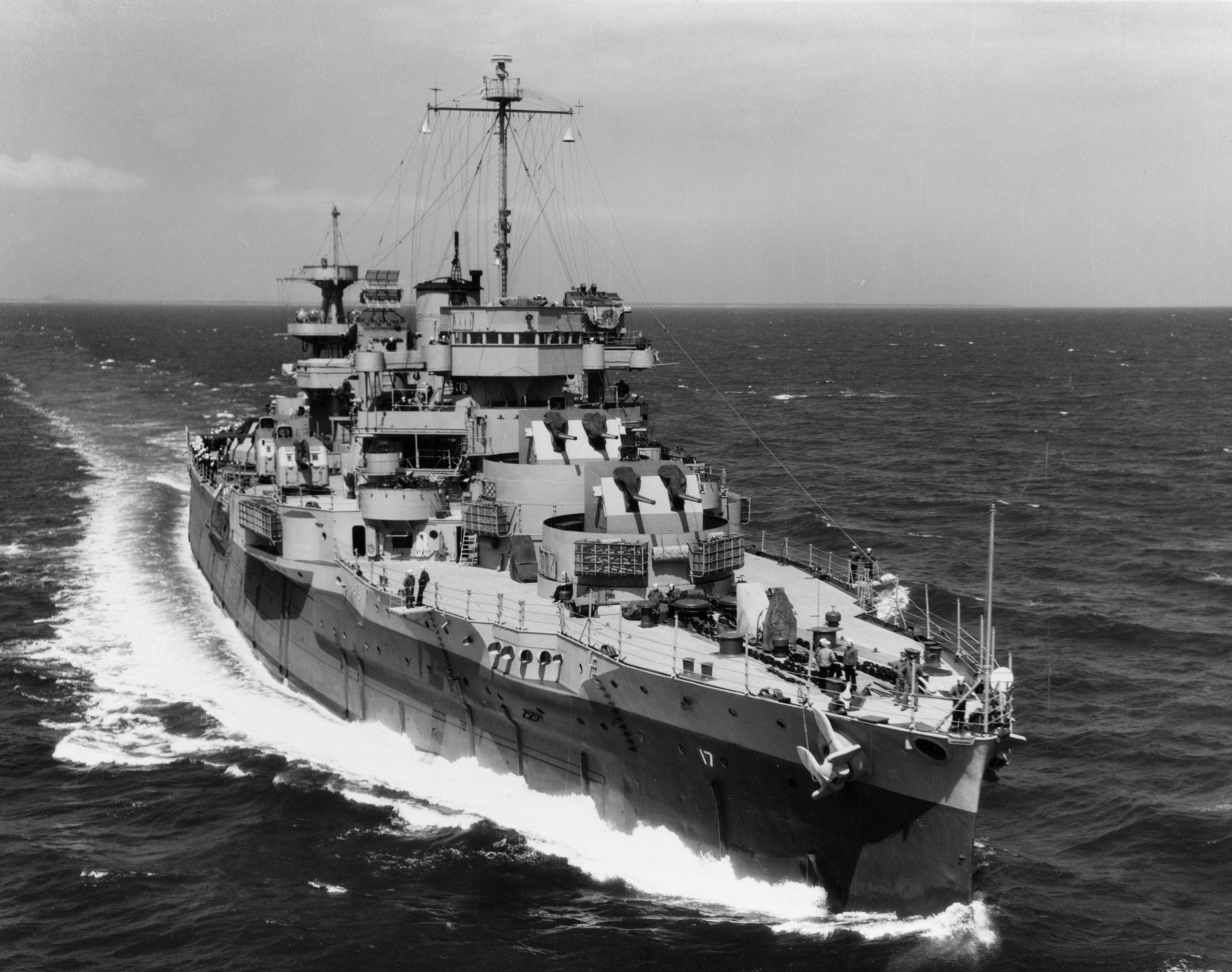 USS Wyoming BB-32 Flak-Schulschiff AD-17 1945