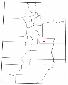 Location of Wellington, Utah