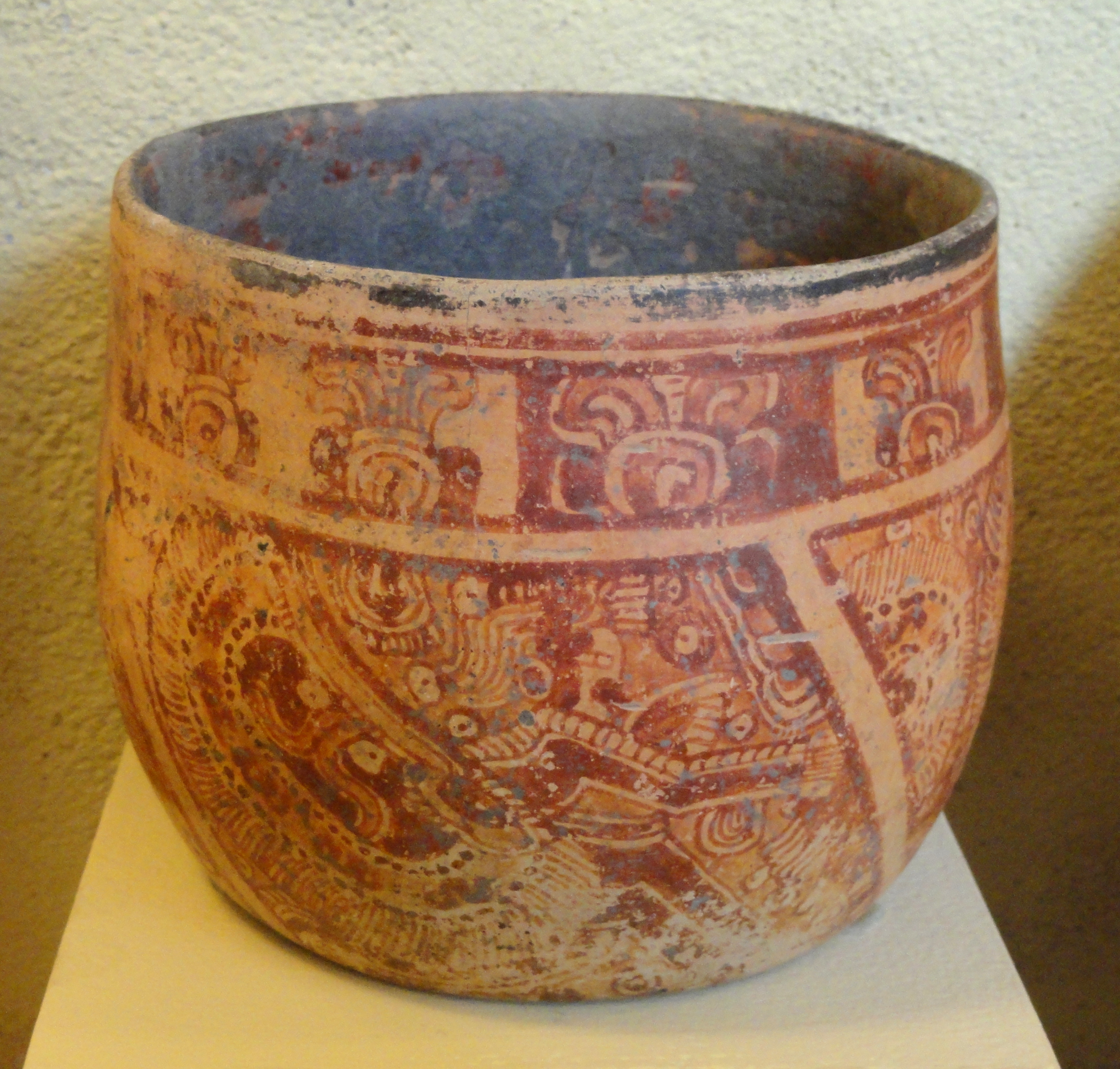 Vase With Elaborately Costumed Noble C Late Classic Mayan C Copan C Honduras San Diego Museum Of Man Dsc