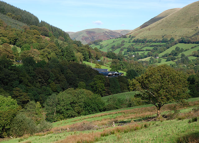 View up the Dyfi valley - geograph.org.uk - 1521404