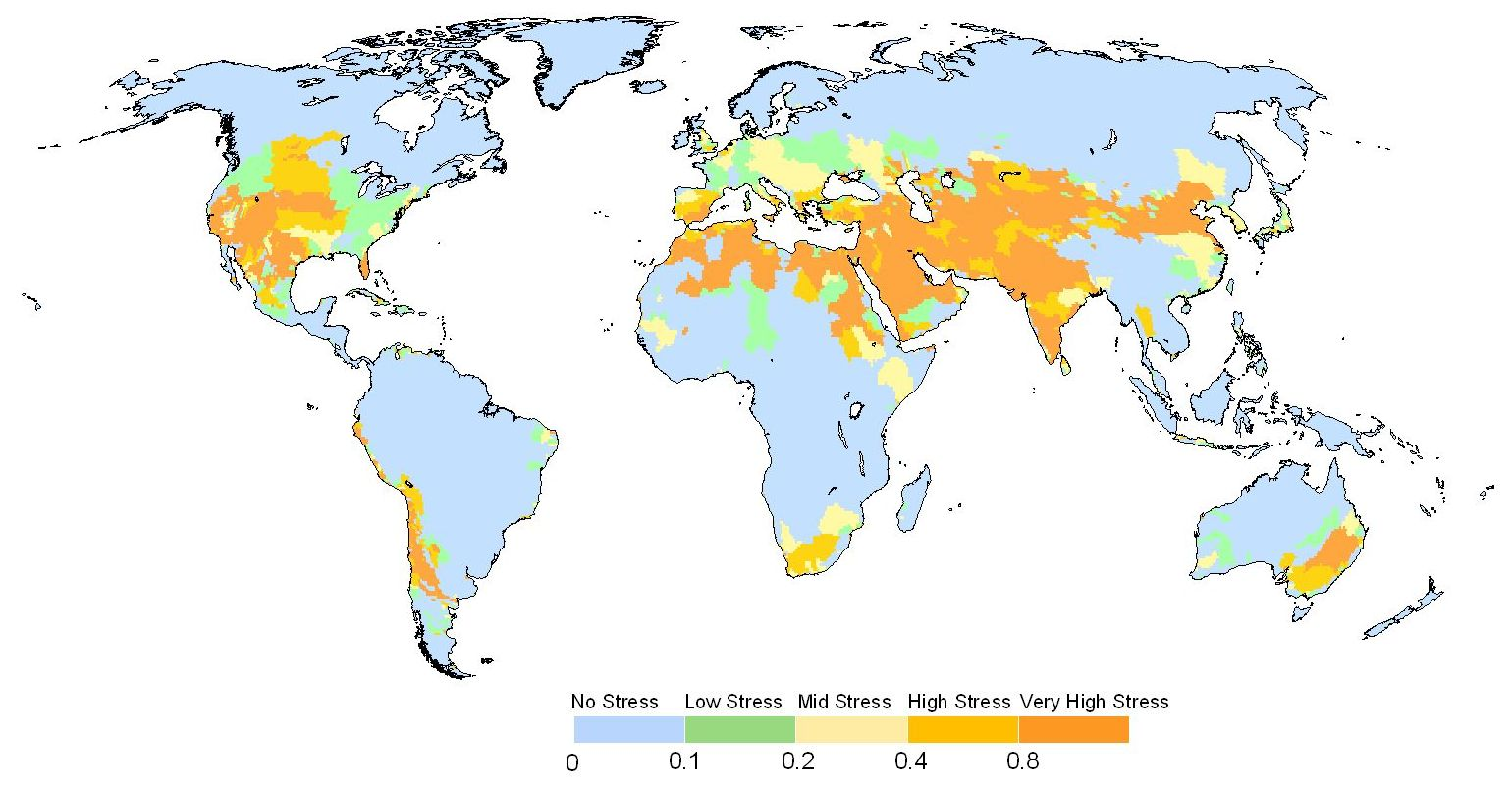 Water Stress Around 2000 A.D. By WaterGAP.jpg