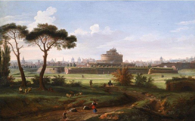 'Вид на замок Сант-Анджело из Прати' Гаспара Ван Виттеля.jpg