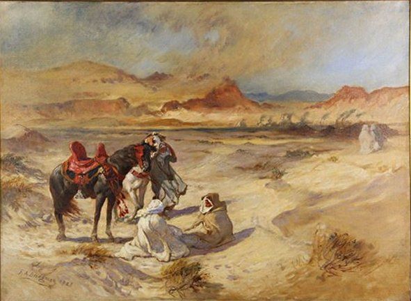 Image of: Sandstorm Filedesert Travelers By Fredrick Arthur Bridgmanjpg Wikimedia Commons Filedesert Travelers By Fredrick Arthur Bridgmanjpg Wikimedia