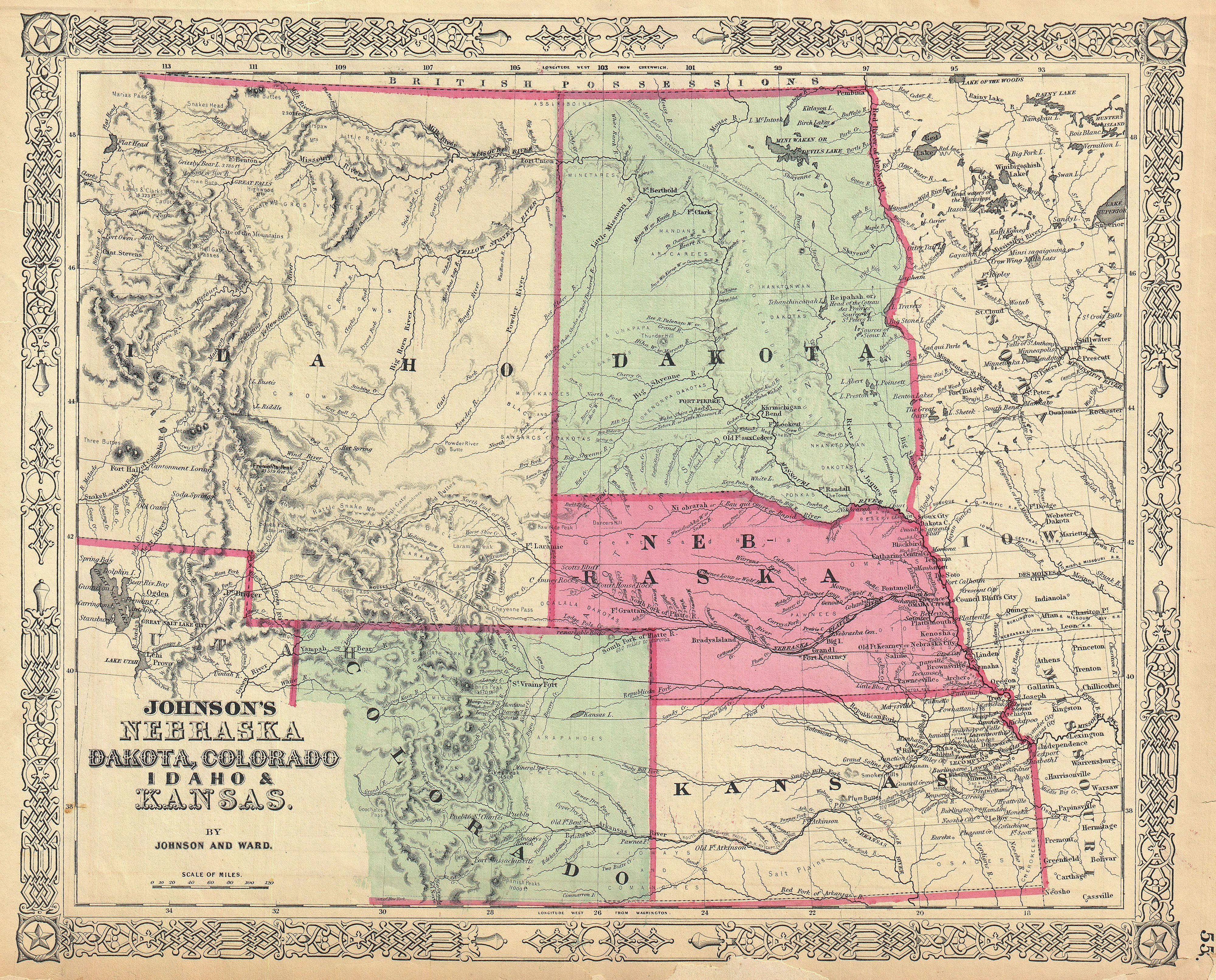 Map Of Nebraska Kansas