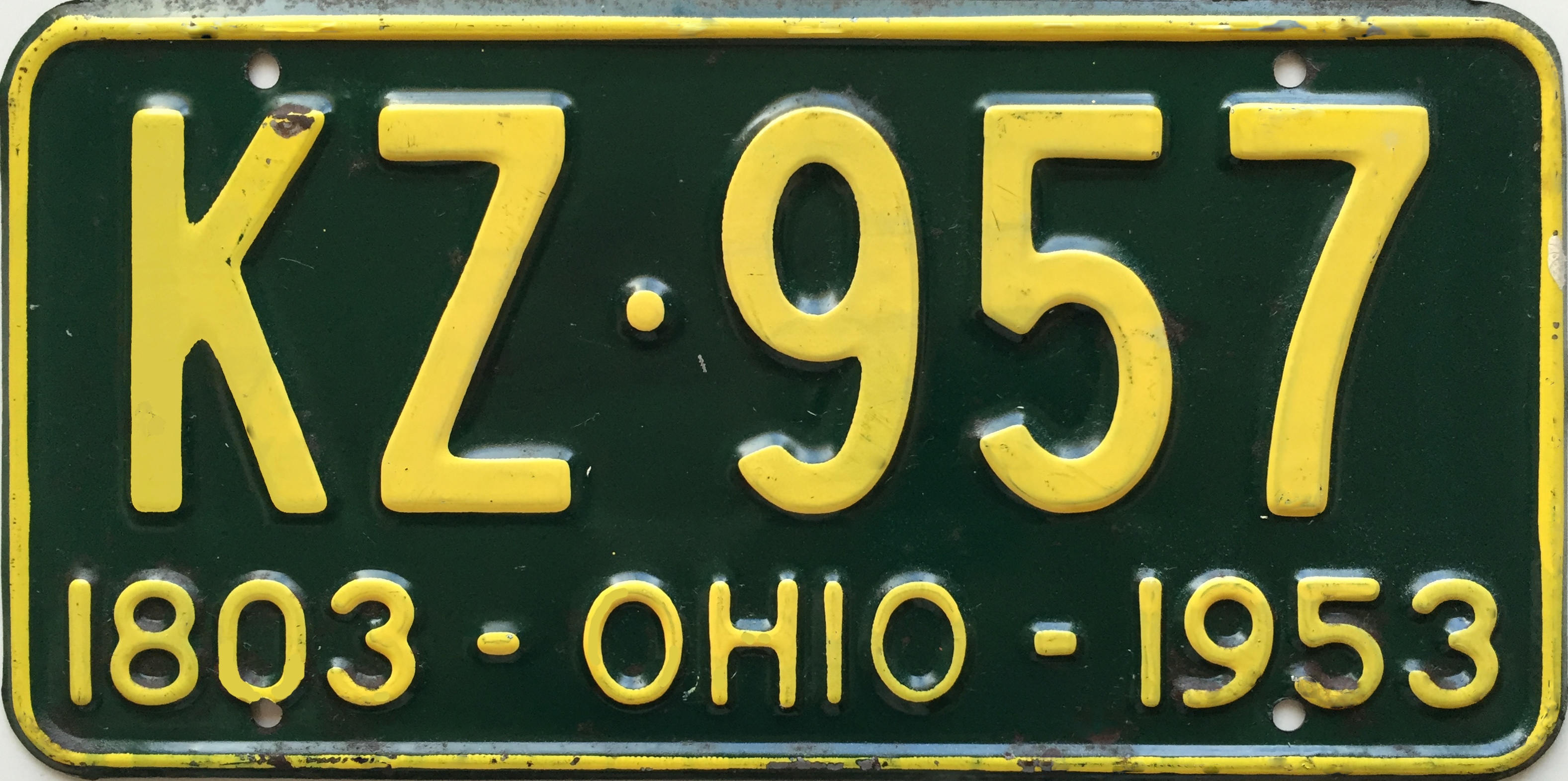 File:1953 Ohio license plate.JPG - Wikimedia Commons