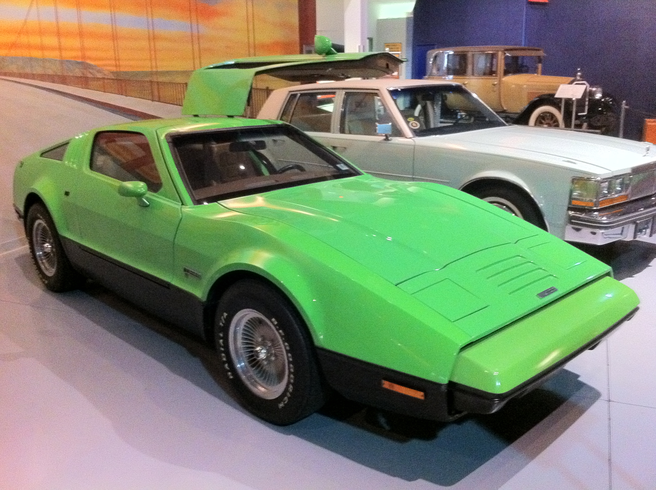 File AACA Museum Bricklin Green Rjpg Wikimedia Commons - Aaca museum car show