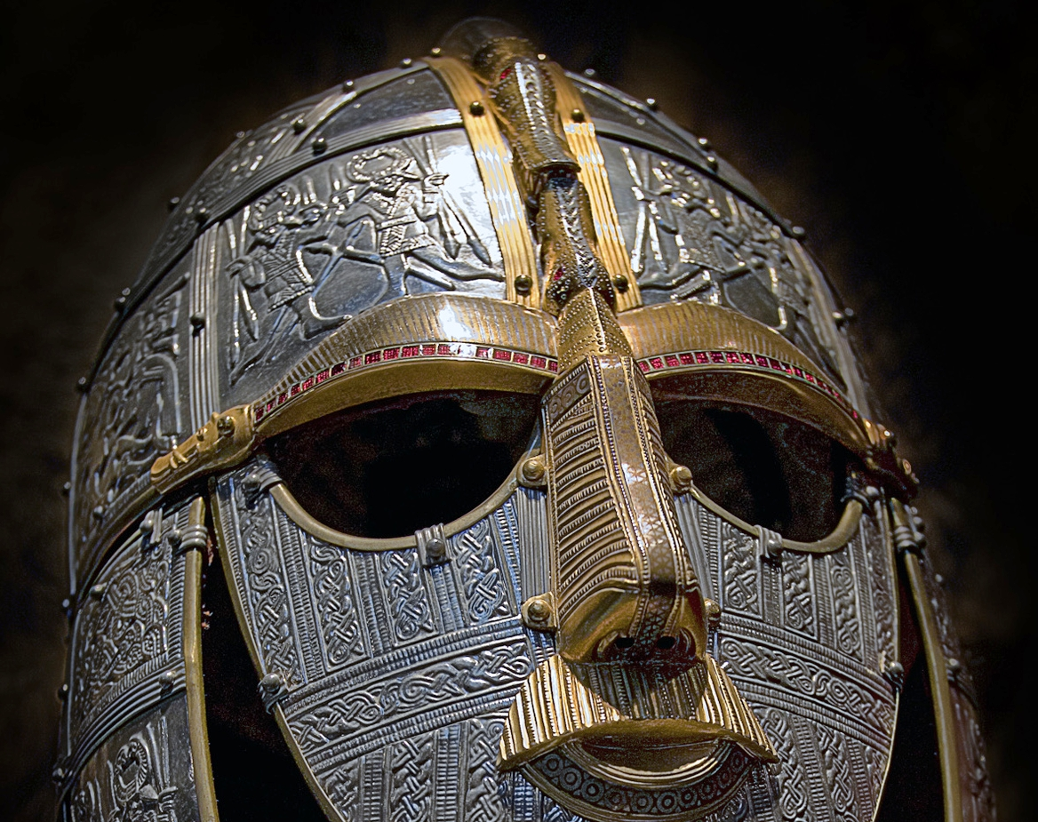 English: Replica of the helmet from the Sutton...