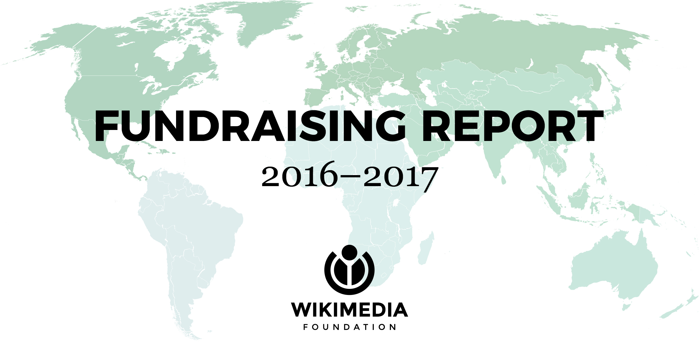 Map of the world for 2016–2017 Fundraising Report