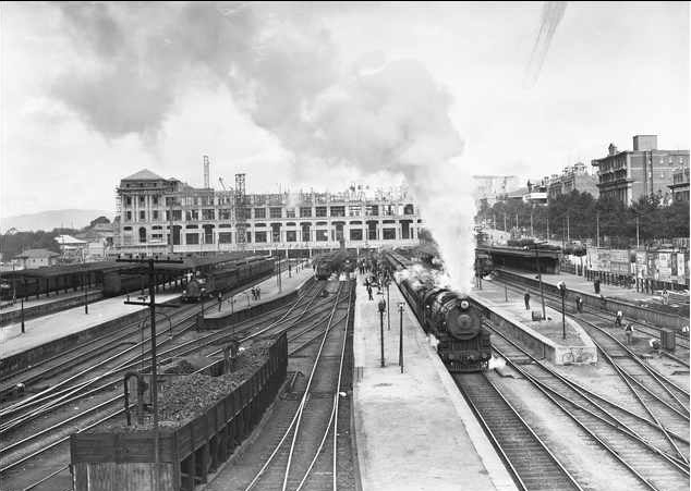 File Adelaide Railway Station Under Construction 1927 Jpg