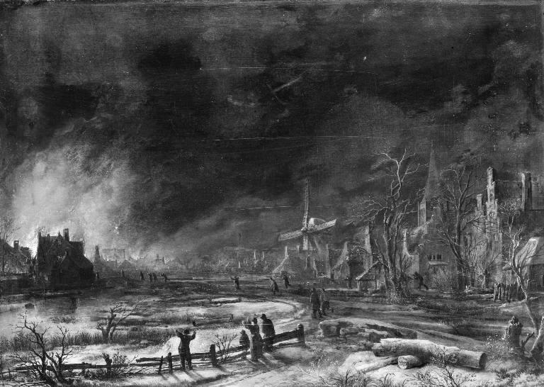 File:Aert van der Neer - Fire by Night in the Winter - KMS374 - Statens Museum for Kunst.jpg