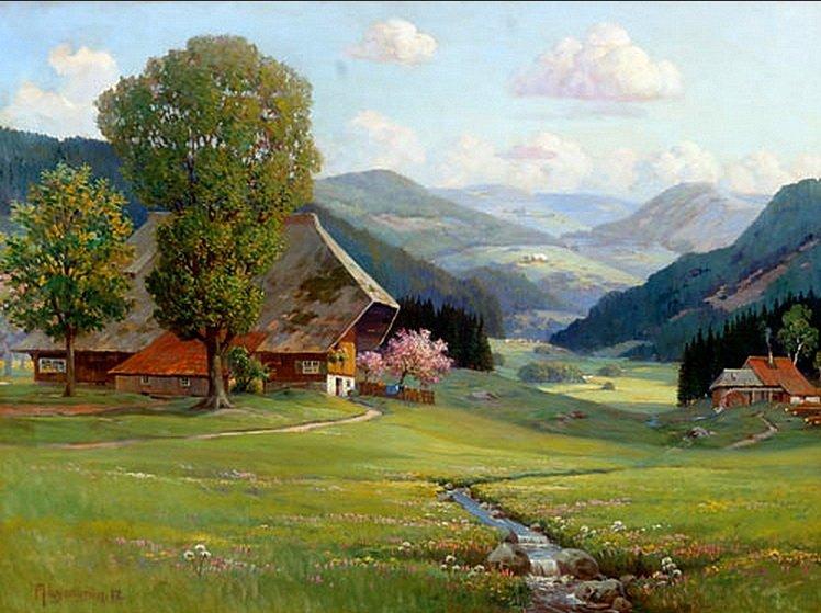 Arnold Lyongrün, Frühling im Schwarzwald, 1912