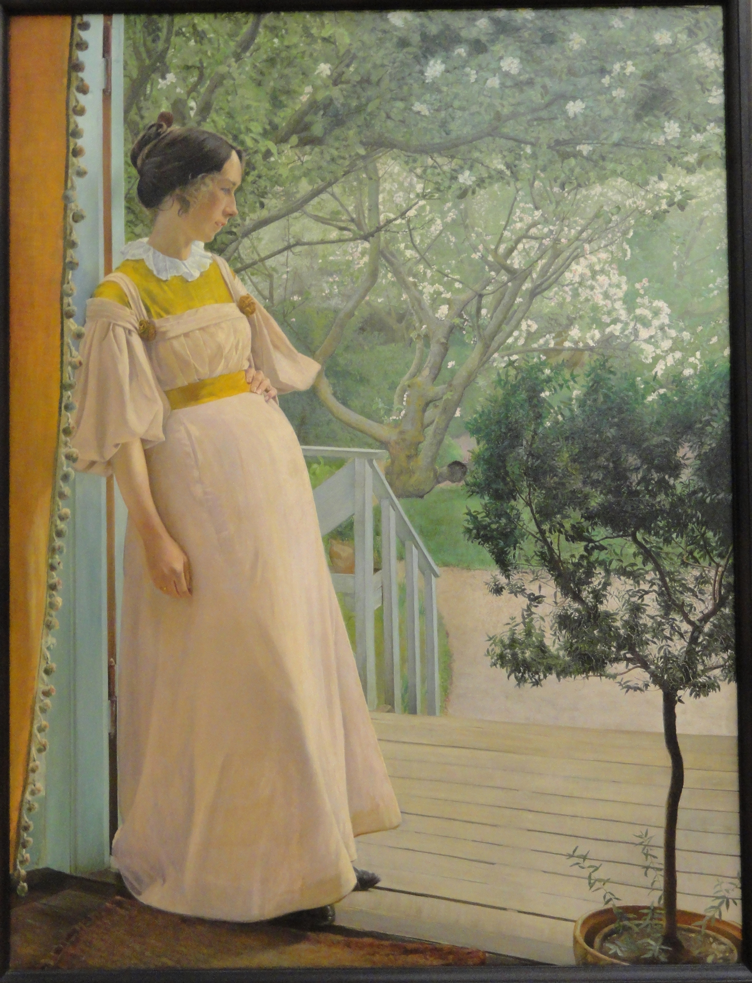 File:At the French Windows, the Artist's Wife, by Laurits ...