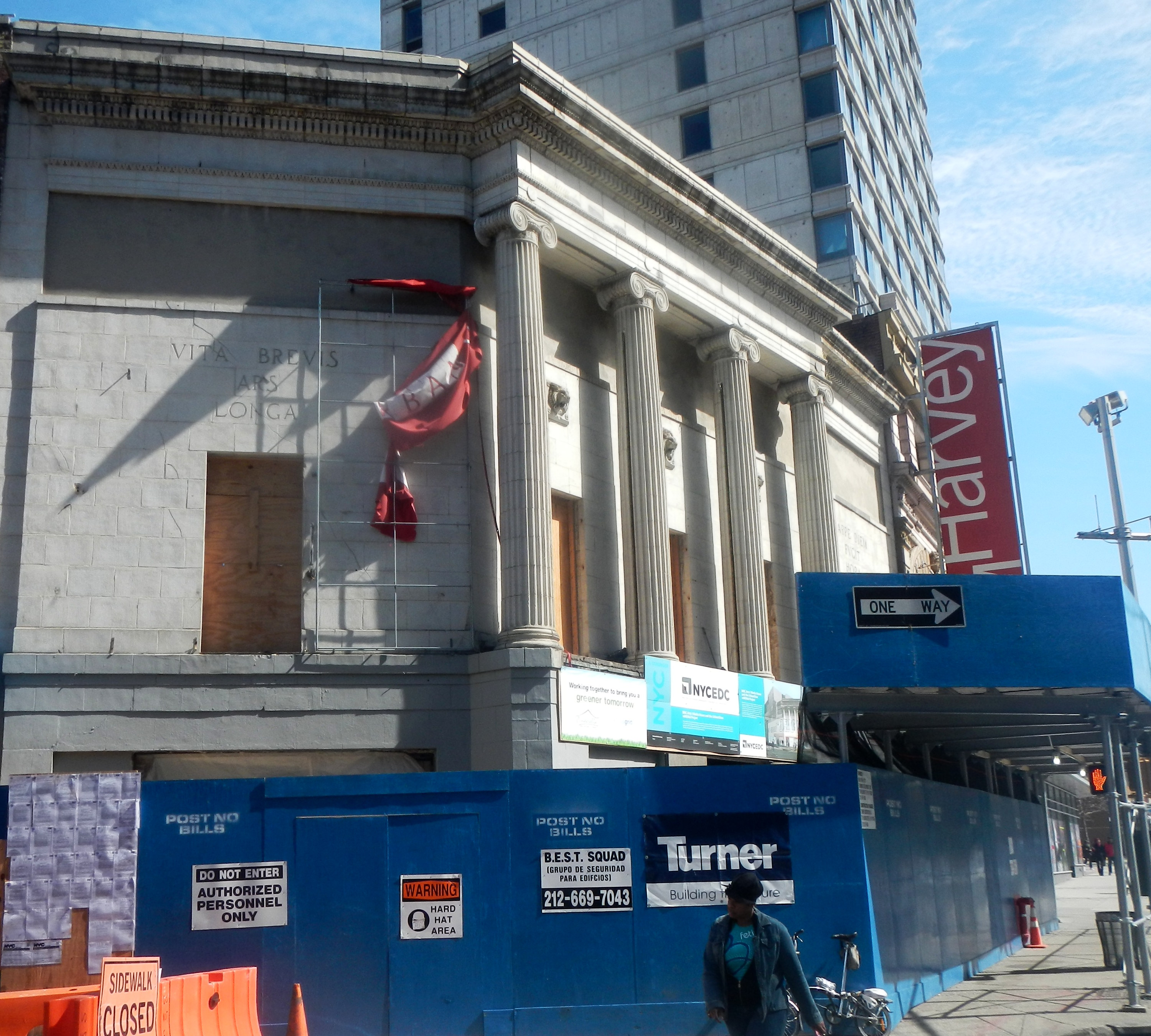 BRIC renovating jeh.jpg English: Looking east across Lafayette Avenue at Harvey Theater under renovation on a late sunny morning. Date 10