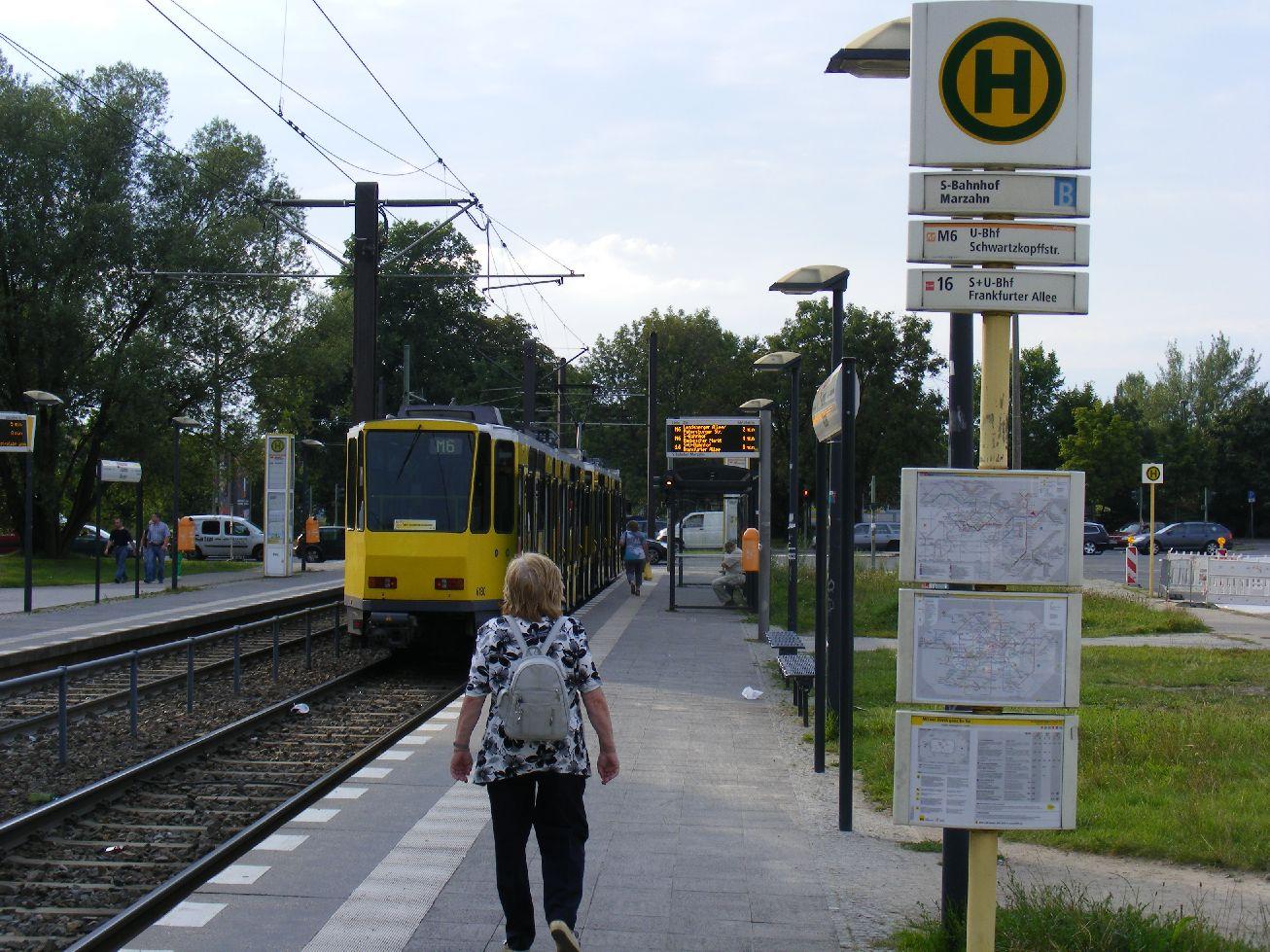 file berlin marzahn tatra tram route m6 to landsberger. Black Bedroom Furniture Sets. Home Design Ideas