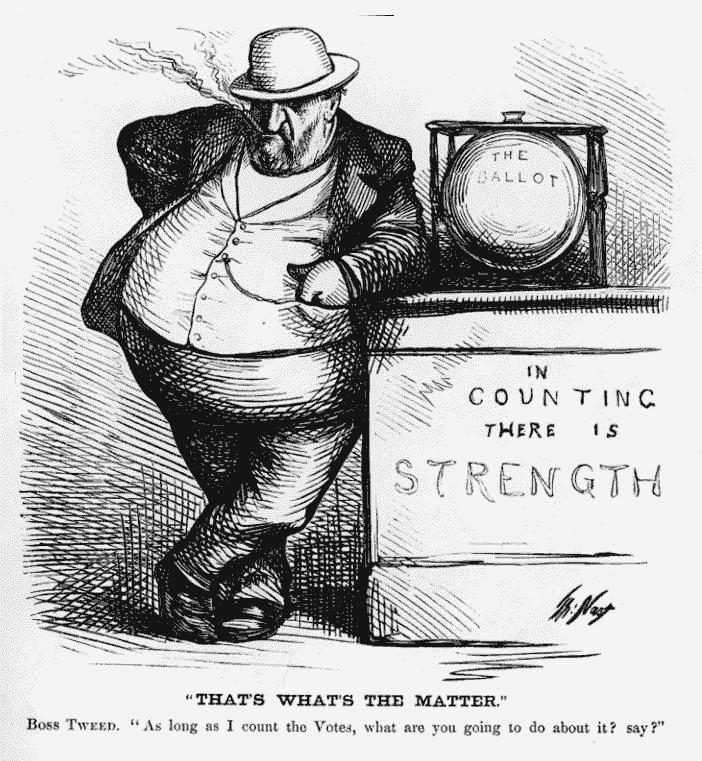Thomas Nast Boss Tweed Political Cartoons