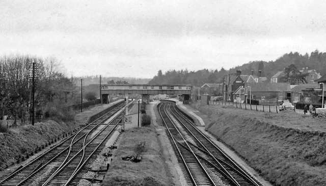 Wimborne to Poole and Hamworthy Lines. 23 Broadstone Railway Station Photo