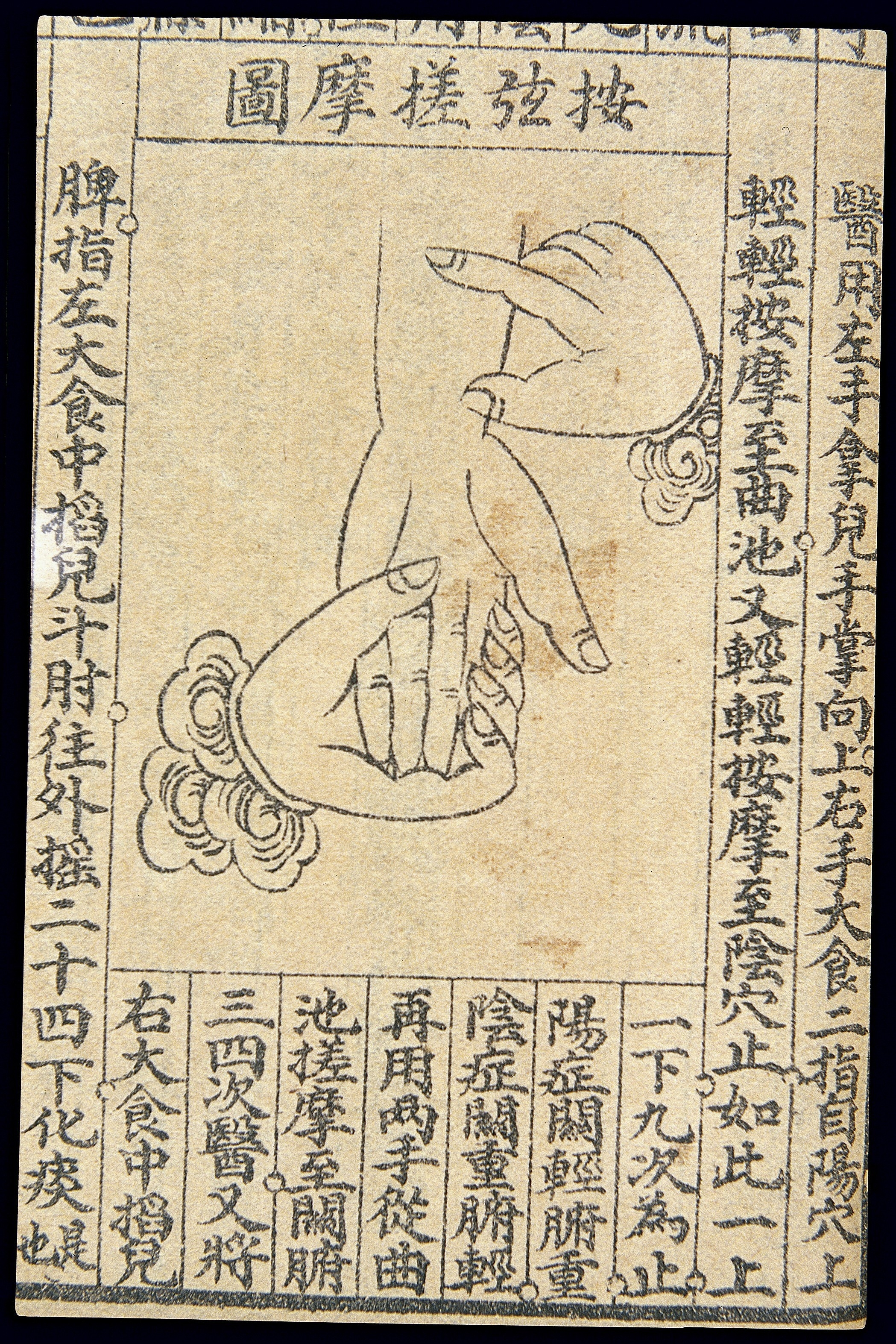 A Traditional Chinese Medicine hand massage chart.