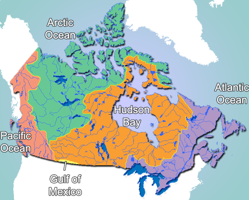 Map Of Canada Lakes And Rivers - Map of canada and lakes