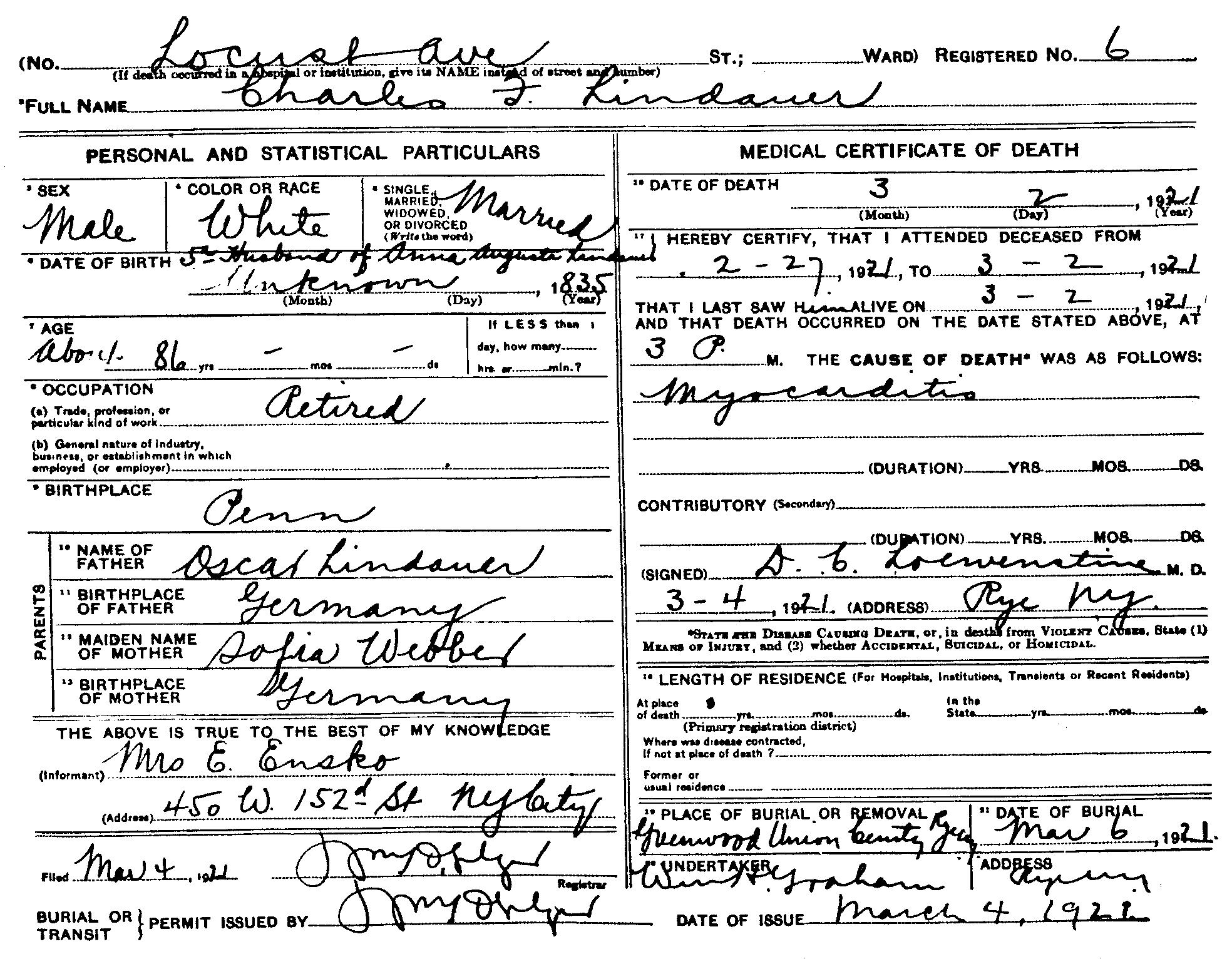Filecharles frederick lindauer i 1836 1921 death certificate filecharles frederick lindauer i 1836 1921 death certificateg yadclub Images