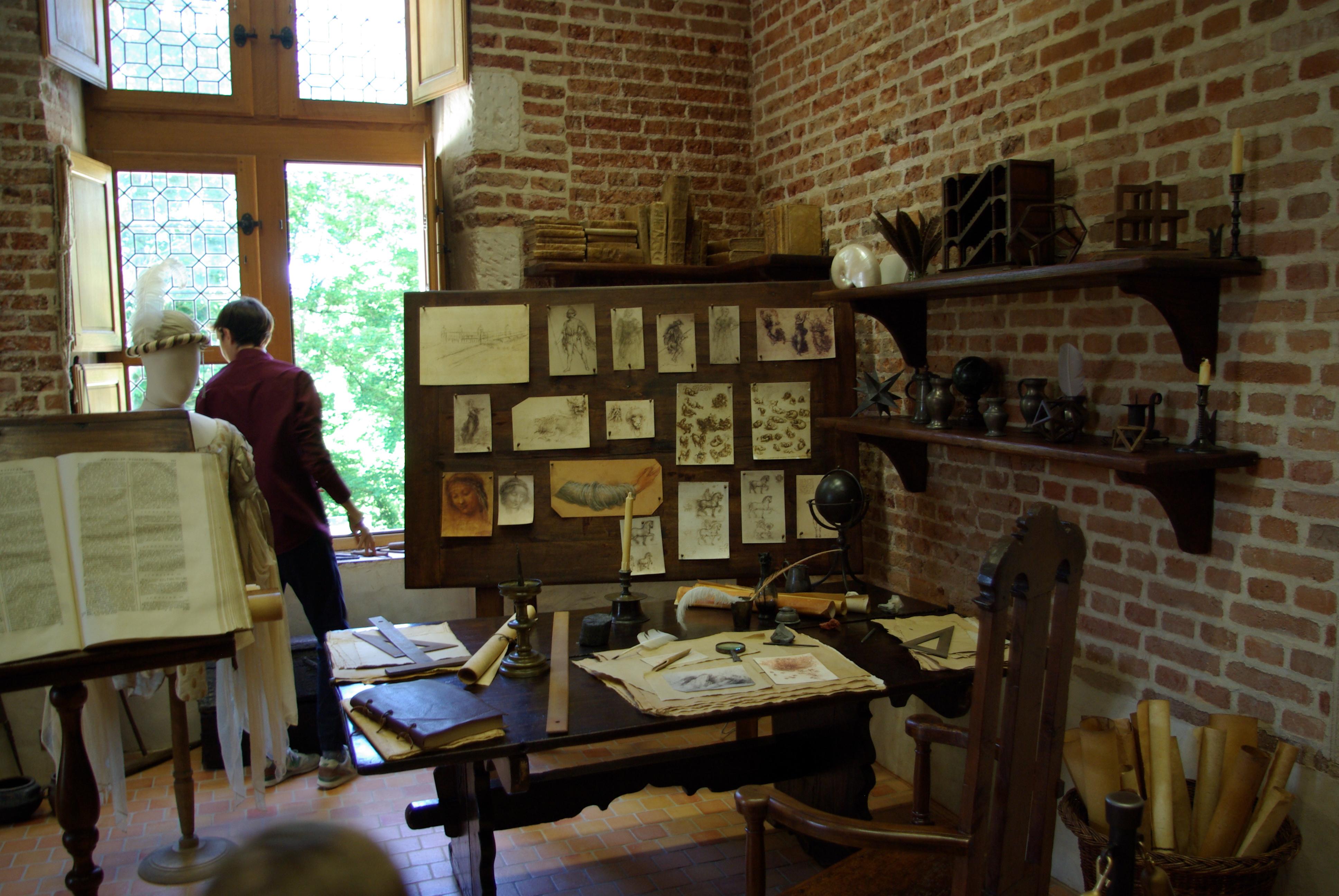 File Clos Luce Atelier De Peinture De Leonard De Vinci 1 Jpg Wikimedia Commons