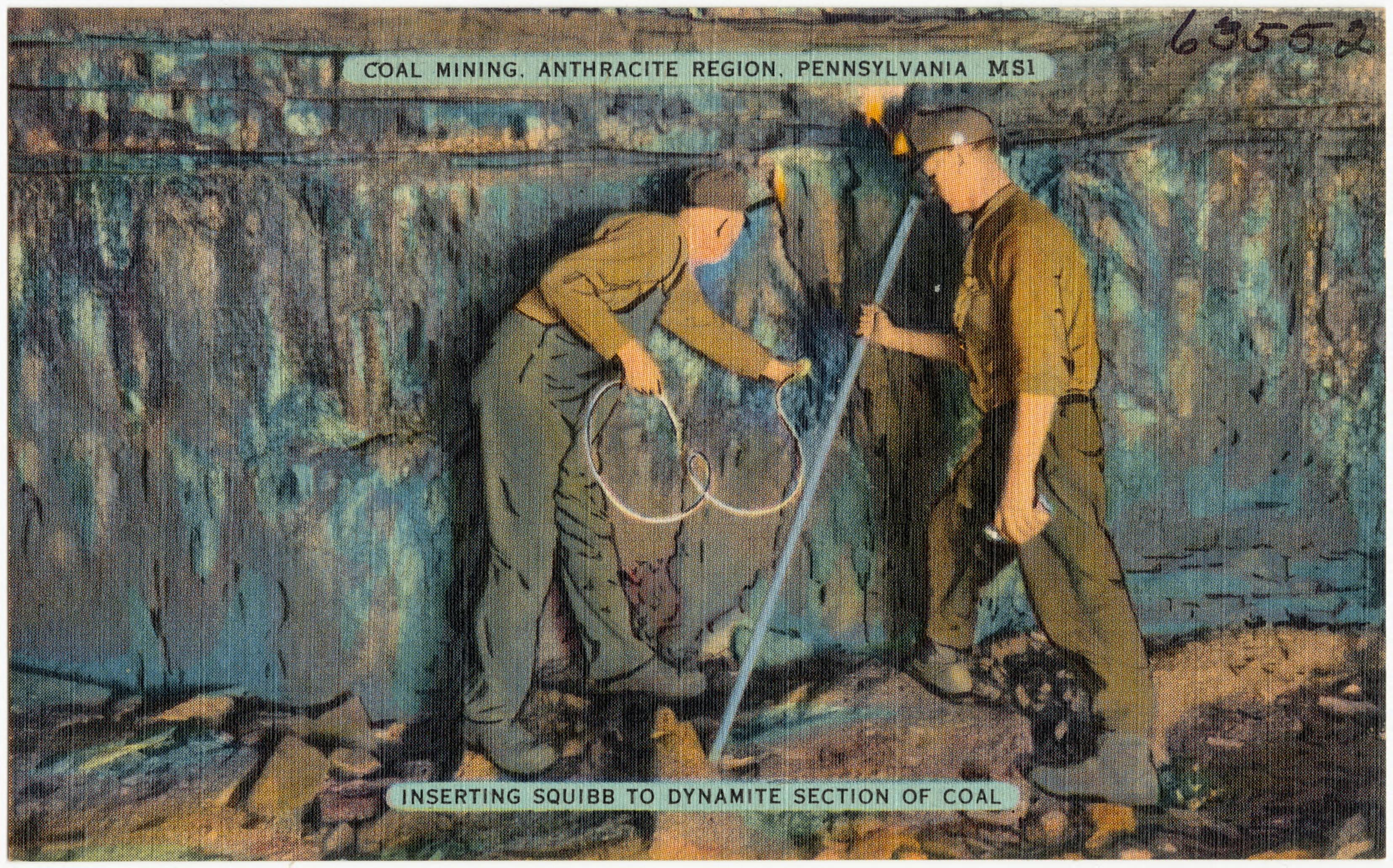 file coal mining  anthracite region  pennsylvania