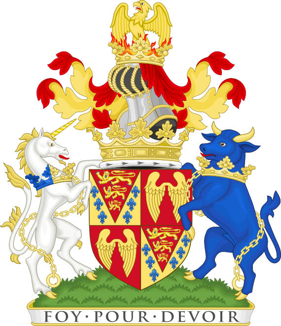 Coat of arms of the duke of Somerset.png