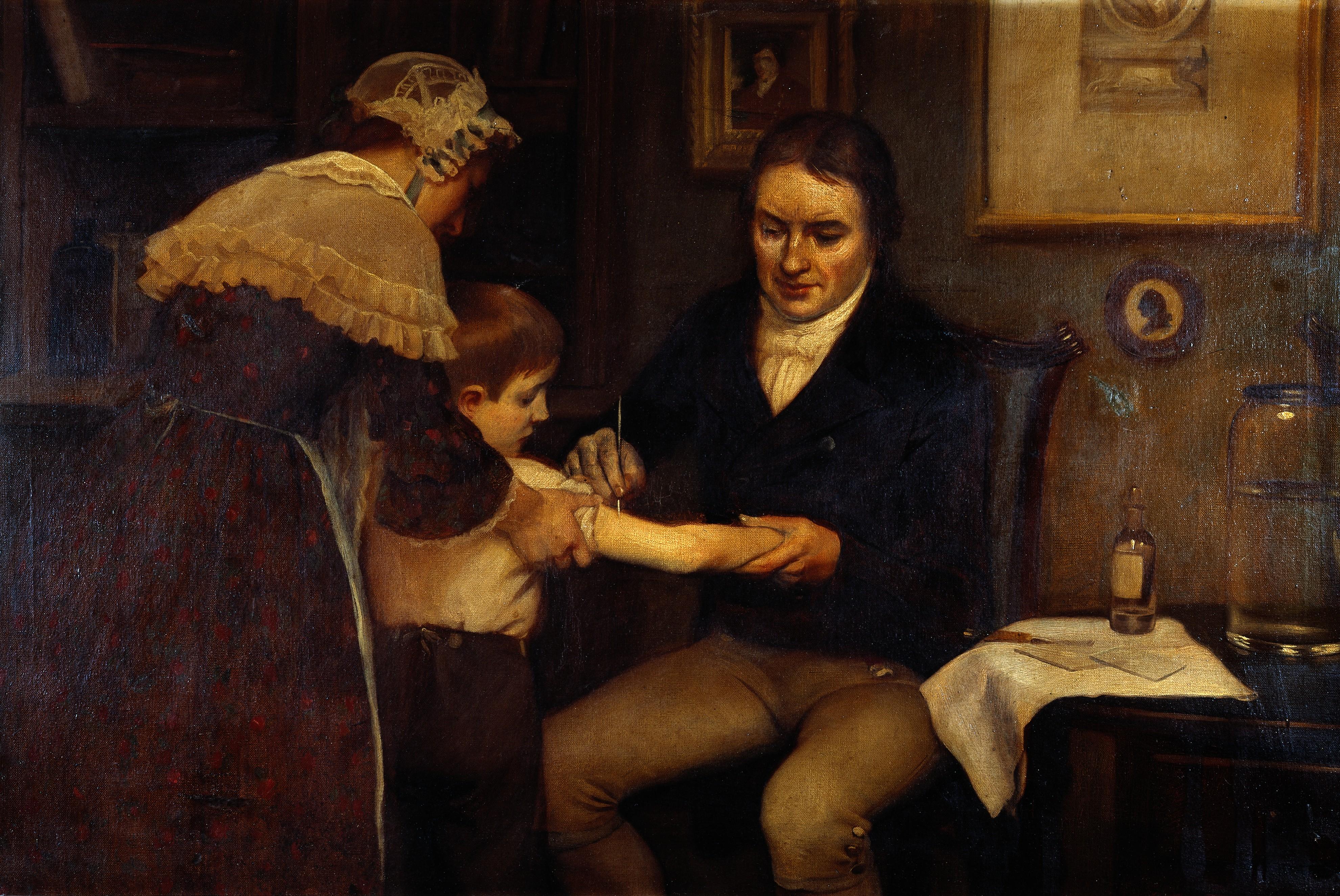 Jenner tests smallpox vaccine