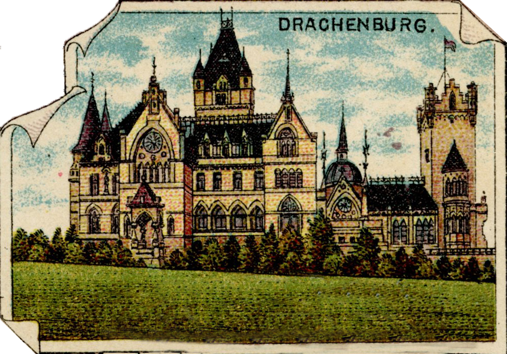 Litograph of Drachenburg 1909 (per Wikimedia)