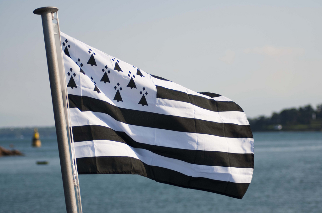 The modern flag of Brittany.