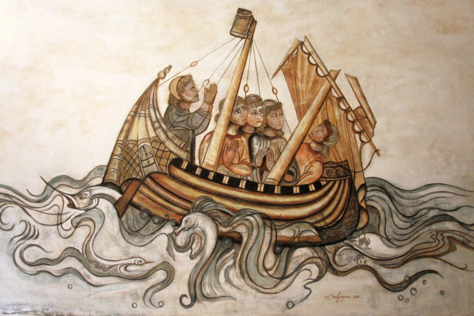 File:El Barco Medieval- Arte Mural. La realización del fresco pintor Emil  Grigoras.jpg - Wikimedia Commons